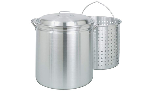BAYOU presents Classic 42-Quart All Purpose Stock Pot with Boil and Steam Basket 4042