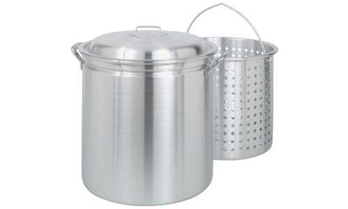 BAYOU CLASSIC presents 60-Quart All Purpose Aluminum Stock Pot with Steam Basket
