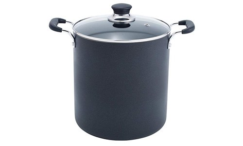 T-FAL presents Specialty 12-Quart Total Non-Stick Stock Port, Black