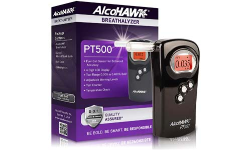 AlcoHAWK presents Alcohol Detector Breathalyzer PT500