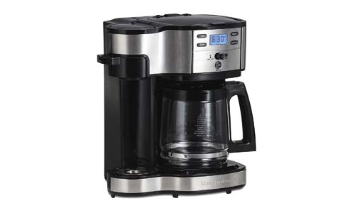 HAMILTON BEACH presents Single Serve and Coffee Pot Stainless Steel Coffee Maker (49980A)