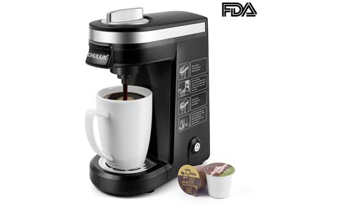 CHULUX presents Single Serve Coffee Maker for Single Cup Capsule with 12oz Water Reservoir, BLACK