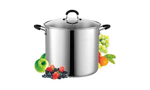 Cook N Home presents 12-Quart Stainless Steel Stock Pot with Glass Lid