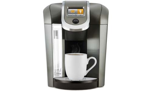 KEURIG presents Single Serve and K-Cup Pod Programmable Coffee Maker with Hot Water Function on Demand, PLATINUM