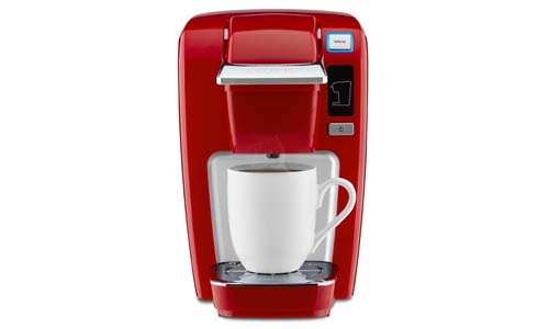 KEURIG presents K15 Single Serve K-Cup Pod Coffee Maker, CHILI RED