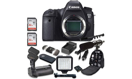 The Canon EOS 6D + 32 GB memory card