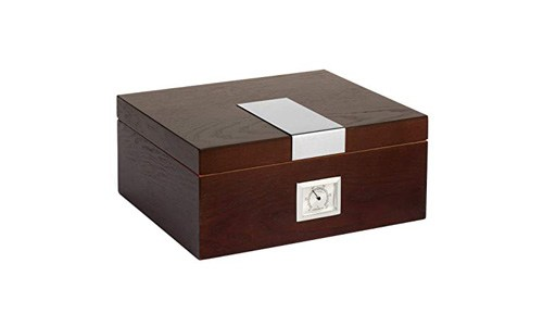 Dapper Effects Premium Cigar Humidor - With Deluxe Front Mounted Hygrometer