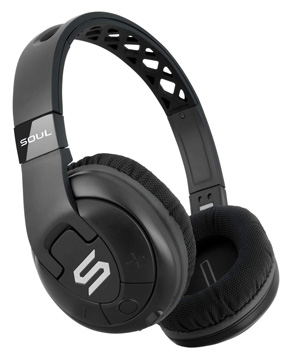 Soul X-TRA Performance Bluetooth Wireless Over-Ear Headphones for Sports (Black)