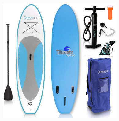 Serene Life Inflatable Stand Up Paddle Board