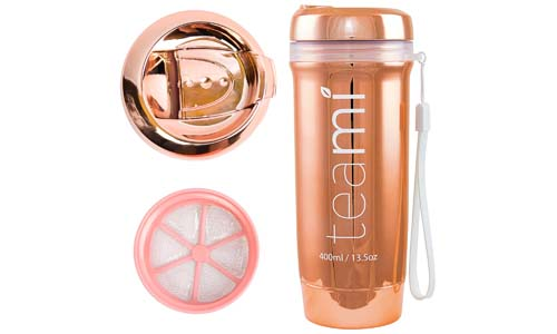 ROSE GOLD TEAMI TEA TUMBLER with Infuser