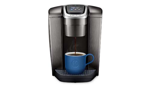 KEURIG presents K-Elite Programmable Single Serve and K-Cup Pod Coffee Maker, Brushed Slate