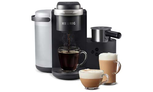 KEURIG presents K-Cafe Single Serve and K-Cup Pot Coffee Maker with Milk Frother, DARK CHARCOAL