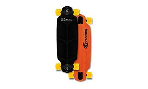 Shark Wheel Fathom by Roam Mini Drop Longboard Complete, Orange