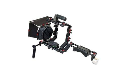 FILMCITY DSLR camera with several rigs