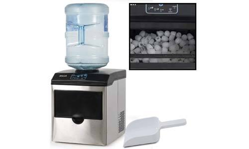 NewAir ClearIce40, Countertop Clear Ice Maker Machine, Makes 40 lbs of Ice, Portable Stainless Steel