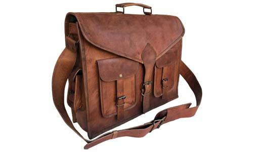 f797e87f7f14 Komal s Passion Leather KPL 18 Inch Rustic Messenger Bag