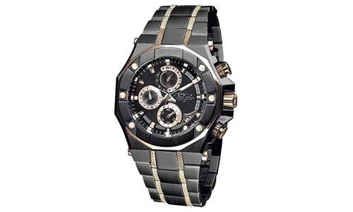 Daniel Steiger Phantom RX Black & Rose Gold Luxury Men's Chronograph Watch - Premium Grade Stainless Steel - 50M Water Resistant - Chronograph Movement with Date Calendar - Multi-Layered Dial