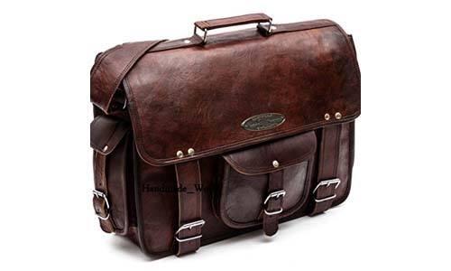Handmade_World for men and women leather messenger bag