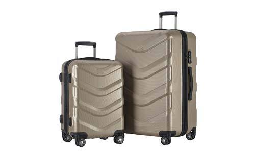 LUG2 RA8713 CHAMPAGNE 2 Piece Luggage Set