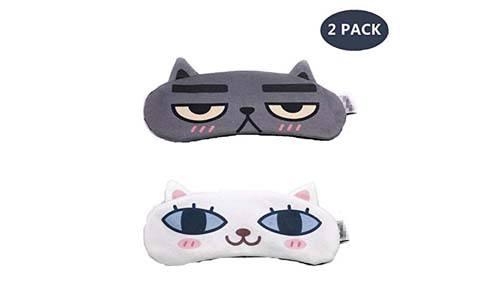 Pragovle [2 PACK] MicroBird Cat&Dog Cute Sleep Mask
