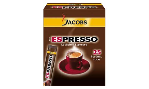 Jacobs Instantaneous Espresso Coffee Sticks