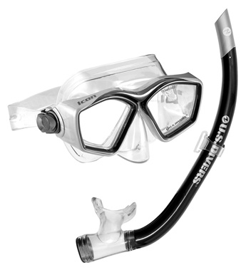 U.S. Divers Icon Mask + Airent Snorkel Set