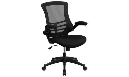 Flash Furniture Mid-Back Black Mesh Swivel Task Chair