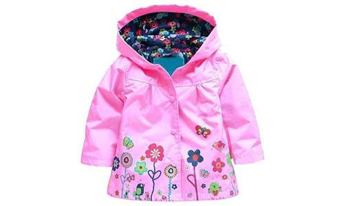 Arshiner Girls' Waterproof Hooded Raincoat