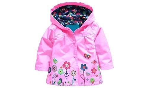 Arshiner Girls' Waterproof Hooded Raincoat