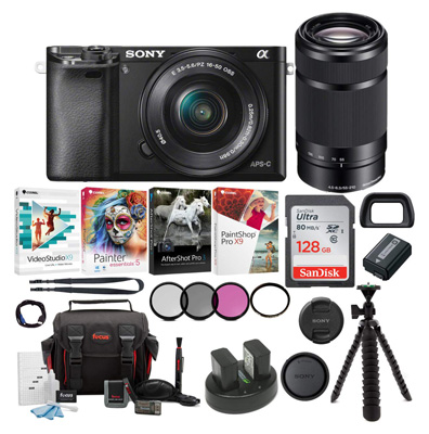 Sony Alpha a6000 Mirrorless Camera with 128GB SD Card
