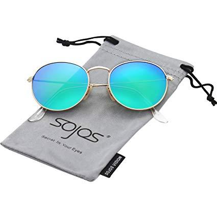 SOJOS Small Round Polarized Sunglasses