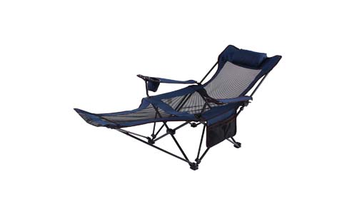 Camp Solutions Light Weight Backpacking Reclining/Lounging Camping Folding Chair with Headrest and Footrest for Outdoor Camping, RV, BBQ
