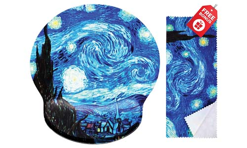 Van Gogh Starry Night Ergonomic Design Mouse Pad
