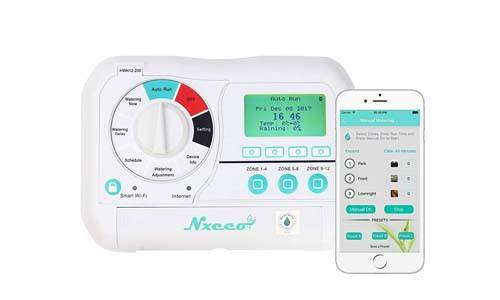 Smart Irrigation Sprinkler Controller NxEco HWN12-200, Smart Sprinkler Timer with EPA Water Sense