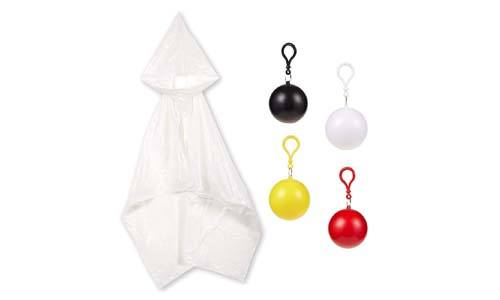 Juvale4 Pack Kids' Disposable Ponchos with Ball