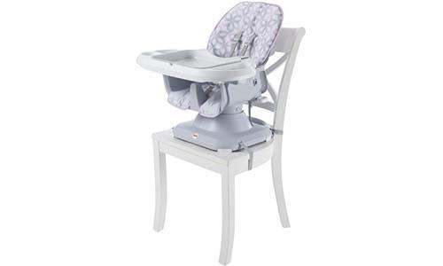 Fisher-Price SpaceSaver High Chair - Grey Floral