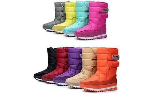 DADAWEN Women's Frosty Snow Boot
