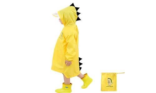 Doubmall Dinosaur Shaped Raincoat