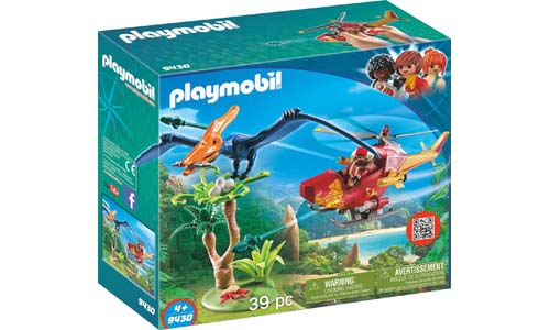 PLAYMOBIL® Adventure Copter with Pterodactyl Building Set
