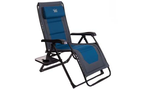 Timber Ridge Zero-Gravity Locking Lounge Chair Oversize XL Adjustable Recliner with Headrest for Outdoor Beach Patio Pool Support 350​lbs