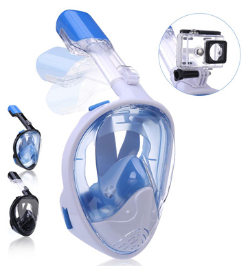 QingSong Full Face Snorkel Mask