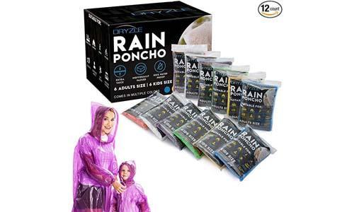 Dryzle Rain Poncho Family Pack