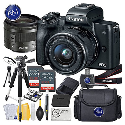 Canon EOS M50 Mirrorless Camera(Black Finish)