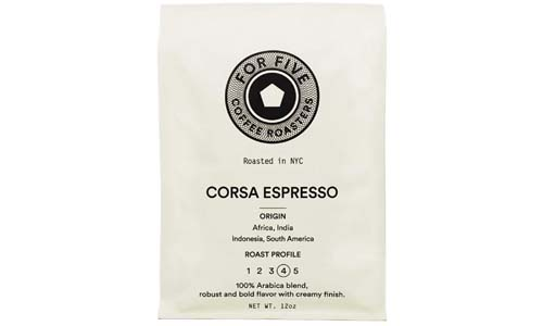 For 5 Espresso Roasters Corsa Espresso Dark Chocolate