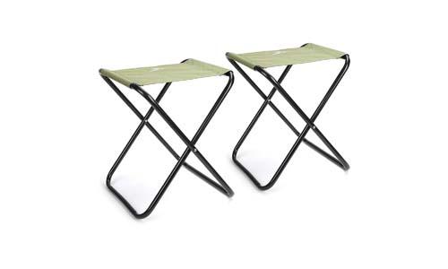 Mossy Oak Mini Folding Stool Camping Chair Portable Lightweight, Green, Max Load 220 lbs, 14 x 13 x 17 inch