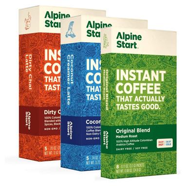 Alpine Start Premium Instant Coffee Variety 3-Pack (Original Blend, Coconut Creamer Latte, Dirty Chai Latte)