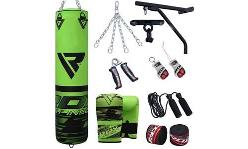 RDX 14 Piece Boxing Establish 5FT Crammed Major Punch Bag