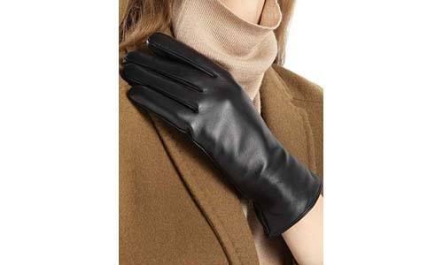 FEIQIAOSH Women's Full-Hand Leather Gloves