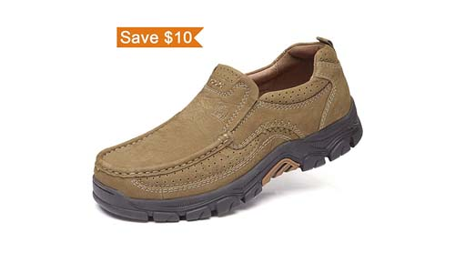 quality design e045e df86c CAMEL CROWN Mens Loafers Slip-On Loafer Leather Casual Walking Shoes