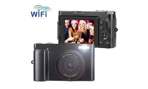 SUNLEA 16X Digital Zoom Vlogging Camera